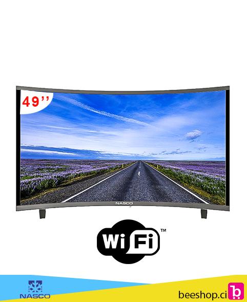 de0eb9ae2472de NASCO LED TV INCURVE SMART 49″ FULL HD - beeshop.ci