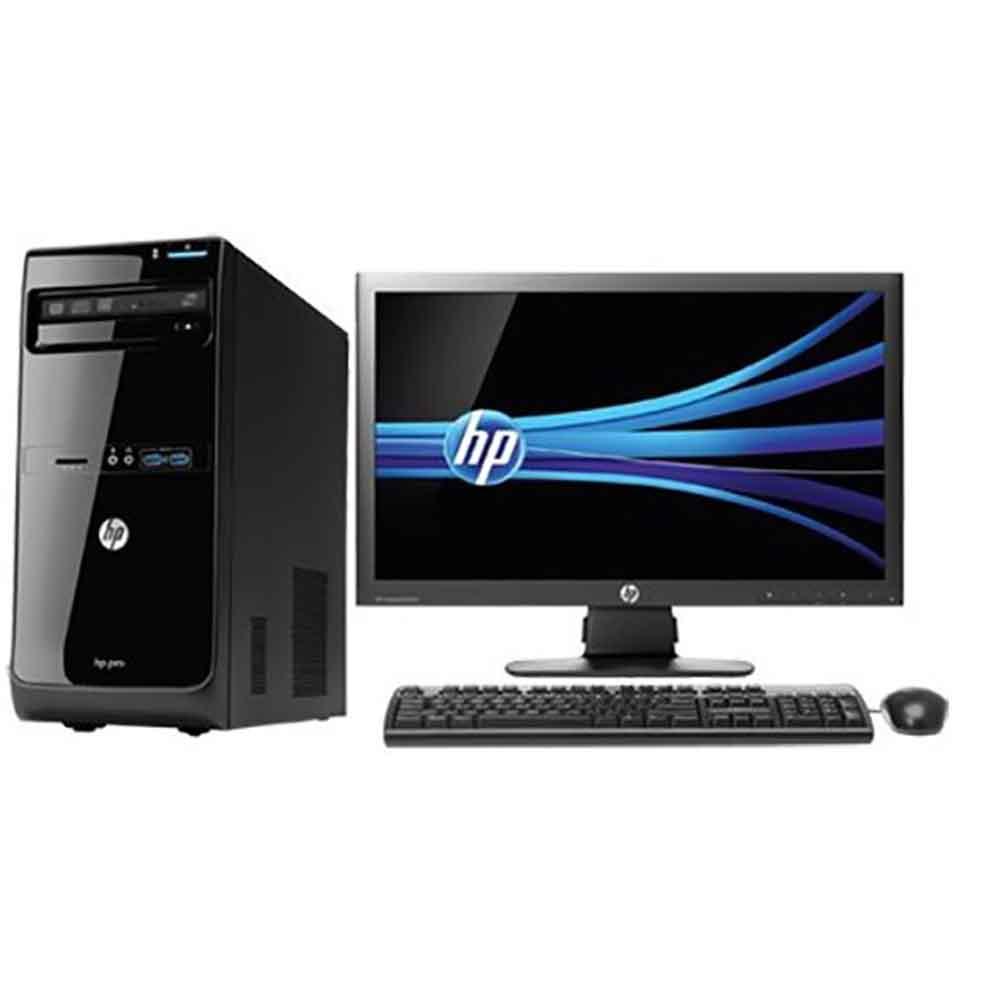 Bureau Informatique Petit Espace ordinateur de bureau pc hp core i7 complet avec ecran 20 pouces
