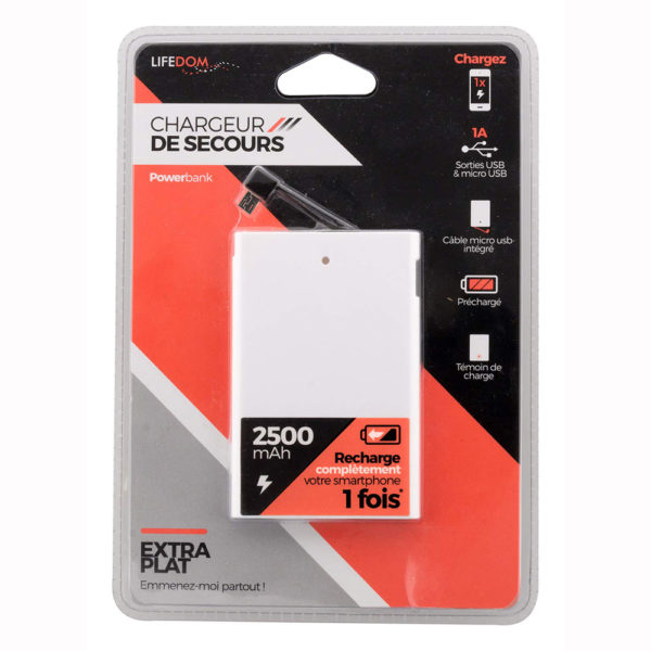 Batterie Externe Rechargeable Lifedom 200005